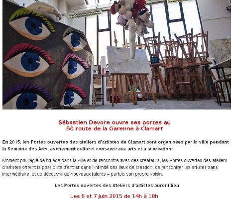 Semaine des arts - exposition juin 2015