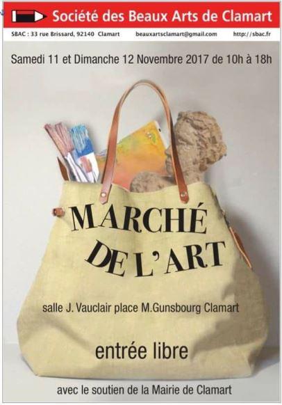 Exposition Sébastien Devore au marché de l`art de Clamart (nov 2017)